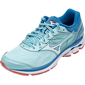 Mizuno Wave Rider 21 Shoes Women Aqua Splash/White/Blue Sapphire